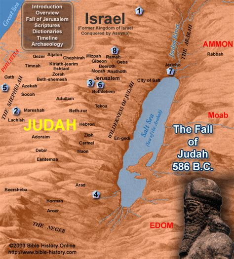 The Fall of Judah with Map (Bible History Online)