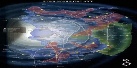 Star Wars: Map of the Known Galaxy (x-post to /r/StarWars