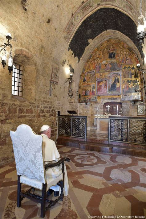 Forgive others and find peace, pope says during brief