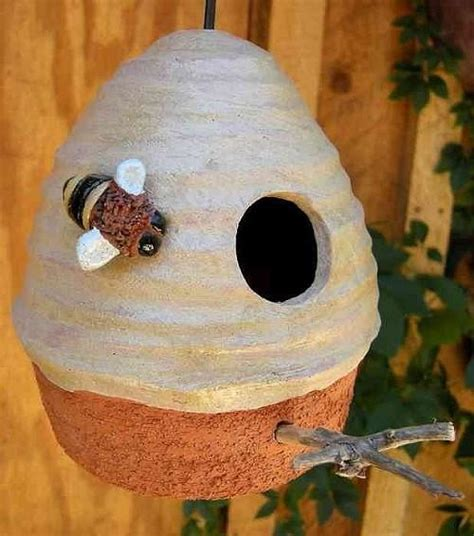 Ceramic Beehive Hanging Birdhouse with Beaded Cord – The