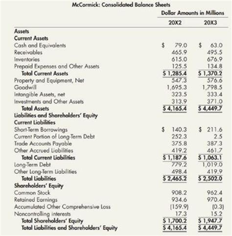 Comprehensive: Balance Sheet, Schedules, and Notes The