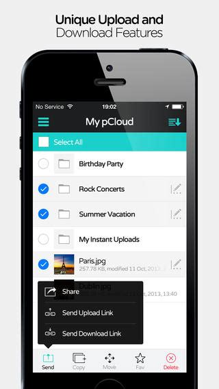 pCloud iPhone App Review: 10GB Cloud Storage, For Free