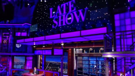 Stephen Colbert Painted the Whole Late Show Purple to