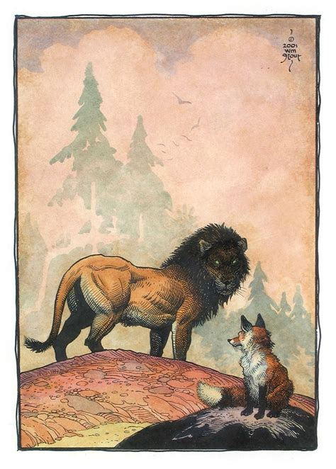The Fox and the Lion | American Legacy Fine Arts