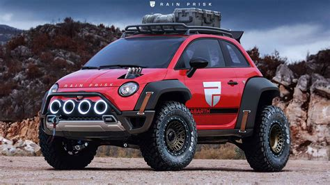 Fiat 500 XXL rendering is ready for the apocalypse