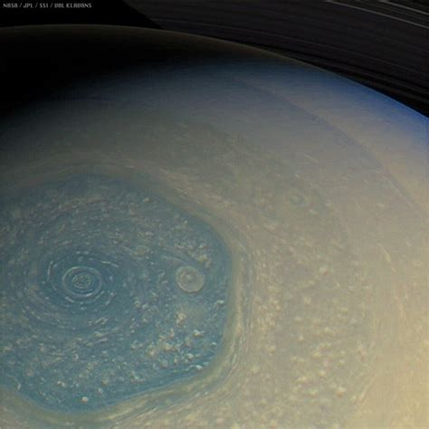 Saturn's Hexagon | This is a view of Saturn's north polar