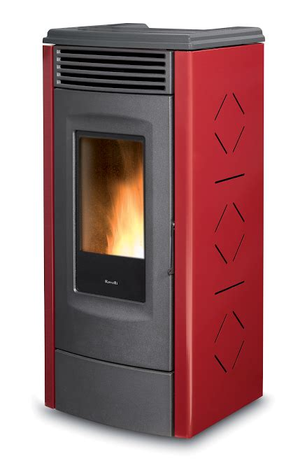 RV 120 Touch Ventilated pellet stove with self cleaning burner